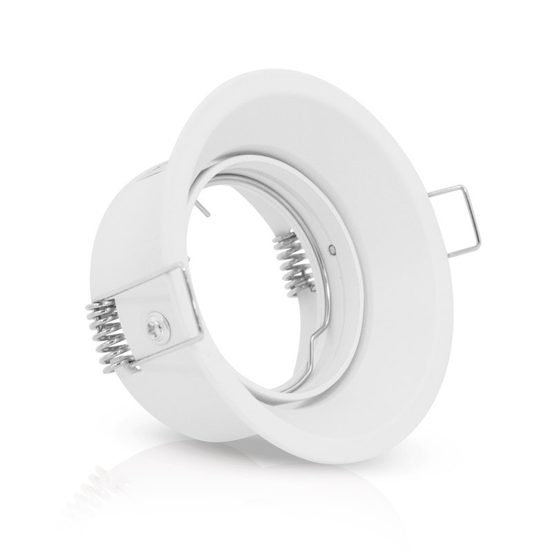 SUPPORT-SPOT-85MM-ROUND-WHITE-TURNABLE