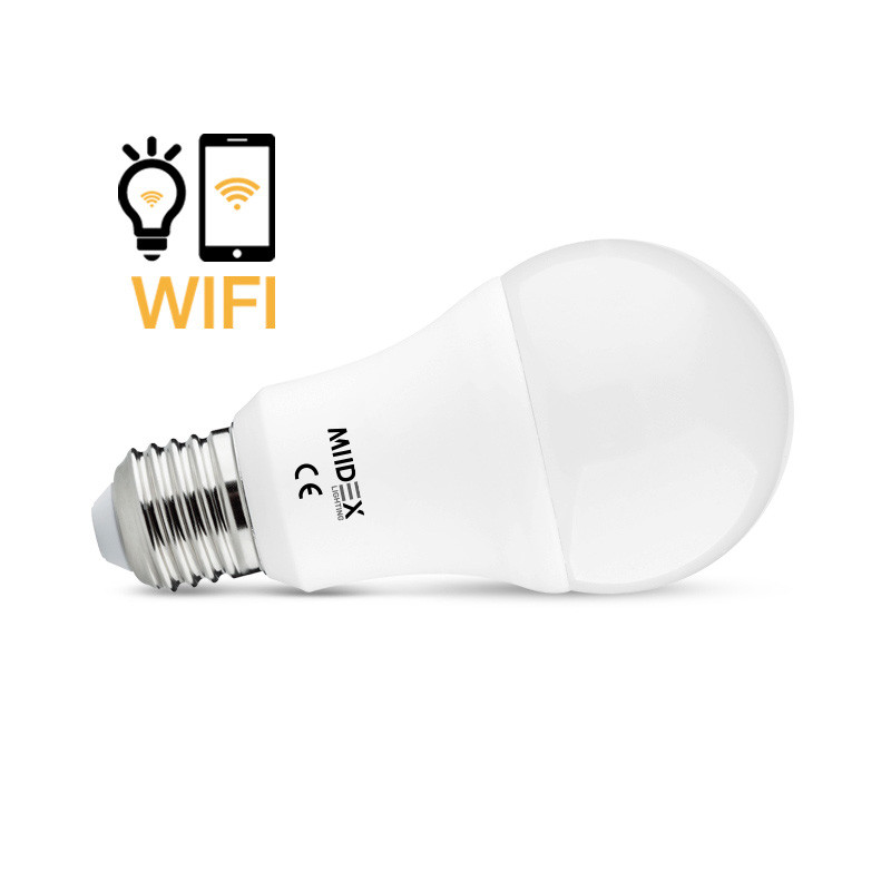 Aangesloten LED Lamp E27 WIFI 12W CCT + Dimmable