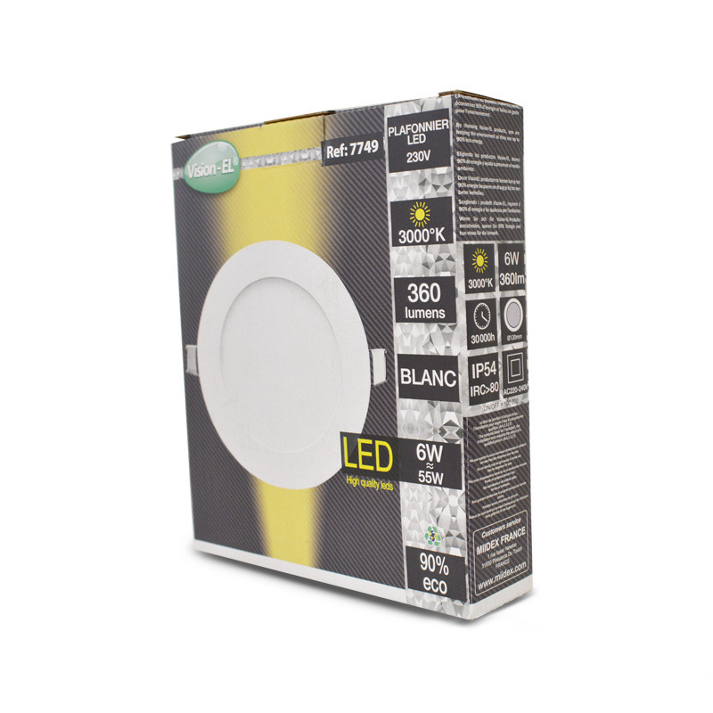 ROUND PANEL-LED-120MM-6W-3000K-WHITE